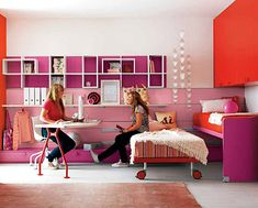 Two Girls Room Pink Furniture   Modern Furniture Design In Pictures listed in: girls bedroom furniture