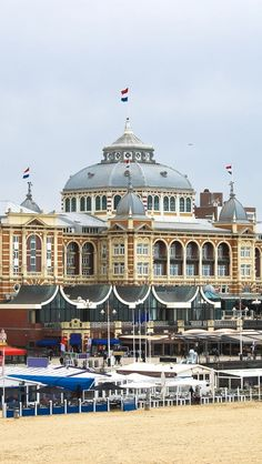 Kurhaus, Schevingen, The Netherlands. The Kurhaus is a hotel which is called the Grand Hotel Amrâth Kurhaus The Hague. It is located in the main seaside resort area, near the beach. Scheveningen is one of the eight districts of The Hague