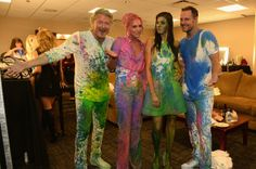 Little Big Town show off their performance paint at the 2014 CMT Music Awards.
