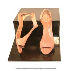 sandalo in frassino rosa #wood #shoes #green #environment
