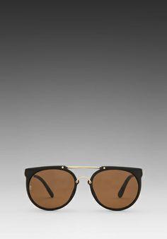5c5df7f85ac Wonderland Stateline in Matte Black Gold Bronze Clubmaster Sunglasses