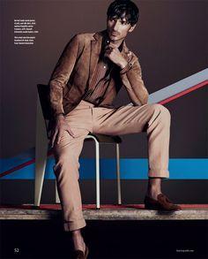 Andres Velencoso Segura for Financial Times by Andrew Yee cores em tons marrons mistura minimalistas