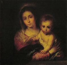 Virgen de la servilleta. Murillo. 1666 Museo de Bellas Artes, Sevilla.