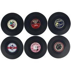 •vinyl coasters!