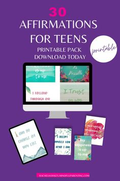 Daily affirmations for teenagers is a downloadable pack that you can use again and again. You can view all the affirmations beforehand, these are simple words of positivity that your teen can use every day to boost motivation, inmprove concentration and give them that boost of positivity that all our teens need, especially at the moment. Download, print out and keep. This pack also includes blank notes for space for creating new affirmations. #affirmations Parenting Teens, Parenting Advice, Affirmations For Kids, Peaceful Parenting, Simple Words, Gifts For Teens, How To Stay Motivated, Teenager Posts, Teenagers