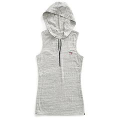 Tommy Hilfiger Sport Hooded Fleece Vest ($40) ❤ liked on Polyvore featuring outerwear, vests, hooded fleece vest, tommy hilfiger, sport vest, tommy hilfiger vest and zipper vest