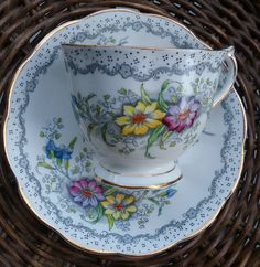 Royal Albert Gem English Bone China Cup and Saucer, Tea and Saucer Set, Tea Cup and Saucer, Tea Set, English Bone China, Royal Albert, Tea by jeanienineandme on Etsy https://www.etsy.com/ca/listing/479381193/royal-albert-gem-english-bone-china-cup