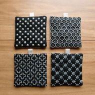 〔受注製作〕刺し子のminiコースター(黒)の画像