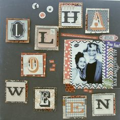 Mad Scrap Project Mad, Scrap, Gallery Wall, Halloween, Frame, Projects, Blog, Home Decor, Picture Frame