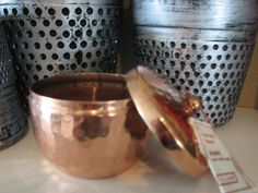 These gorgeous hammered Copper Tins are filled with Illume's signature 100% natural beeswax, soy, and essential oil blend. The result is a candle that's earth friendly as well as remarkably soothing.