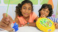 Oyun Diyarı - Ali Cem ve Azra ile balık tutma. Çocuk oyunları. Çocuk vid...