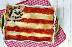 Fourth of July Lasagna Flag Recipe  www.sheknows.com