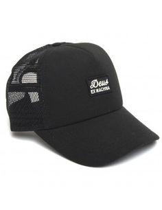 DEUS Kappe Trucker Morgan - black Deus Ex Machina, Morgan Black, Caps Hats, Baseball Hats, Baseball Caps, Hat, Baseball Cap, Snapback Hats