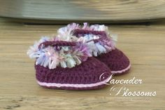 Baby booties crochet baby booties by LavenderBlossoms on Etsy, $16.00