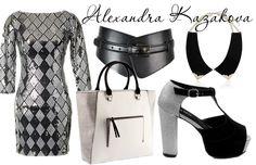 Look with a dress by Alexandra Kazakova.