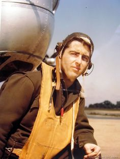 Co-pilot of a B-24 in the 8th Air Force. England