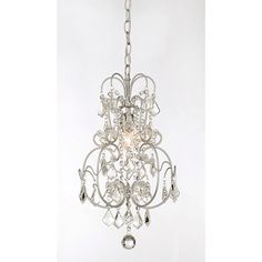 Illuminate any interior space with this crystal chandelier whileadding a note of elegance and class. Graceful and delicate, thissmall drop chandelier hangs from