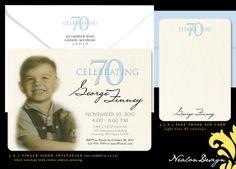 Nealon Design: 70th Birthday Party Invitation