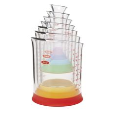 Amazon.com: OXO Good Grips 7-Piece Nesting Measuring Beaker Set, Multicolored: Kitchen & Dining