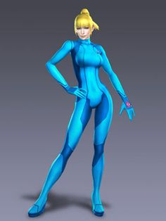 Metroid Samus Aran Cosplay Costume Jumpsuit