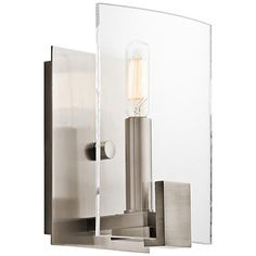 """Kichler Signata 8"""" High Classic Pewter Wall Sconce"""