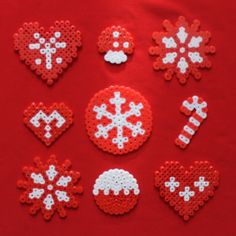 Christmas ornaments hama beads by Nóri