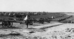 British artillery battery on Mount Scopus in the Battle of Jerusalem 1917.