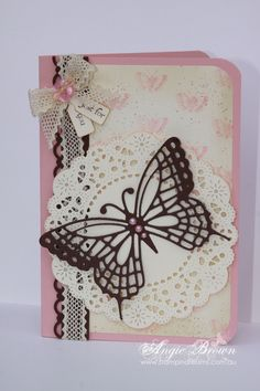 Like use of doily and tags in ribbon