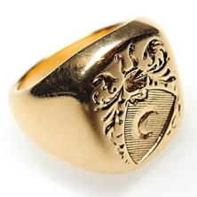 Vintage Tiffany & Co Men's Seal Crest Ring Unique Mens Rings, Rings For Men, Ring Bear, Chunky Rings, Signet Ring, Cocktail Rings, Vintage Rings, Band Rings, Crests