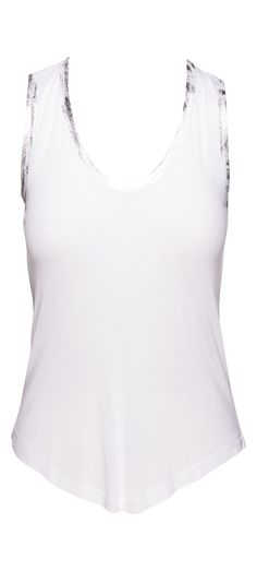 Zadig & Voltaire Tam Foil Modal Tank Top in White / Manage Products / Catalog / Magento Admin