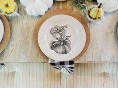 A Farmhouse Tablescape Dressed to Impress Thanksgiving Decorations, Seasonal Decor, Fall Decor, Farmhouse Dinnerware, Give Thanks, Inspired Homes, Dress To Impress, Tablescapes, Farmhouse Style