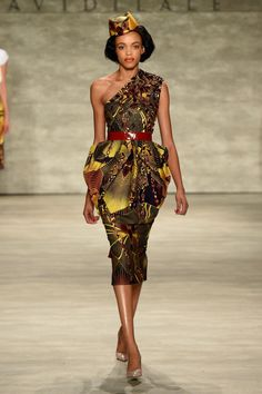 >David Tlale spring 2015 collection. Photo: Bryan Bedder/Getty Images for Mercedes-Benz Fashion Week</p>