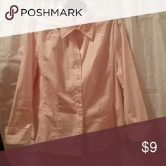 Pink button up blouse From st.johns bay St. John's Bay Tops Button Down Shirts