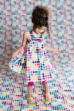 """jamesgirone: From Deux par Deux. The Fizzy Pop Collection. """" This cute dress has a lot of POP for SPRING! Cute Dresses, Girls Dresses, Summer Dresses, Pop Collection, Posh Girl, Little Fashionista, Spring Summer Trends, Lookbook, Leggings"""