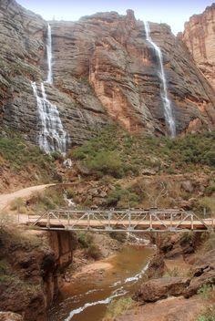 Waterfalls over Fish Creek Canyon bridge, Apache Trail, Highway 88, Arizona   Flickr - Photo Sharing!