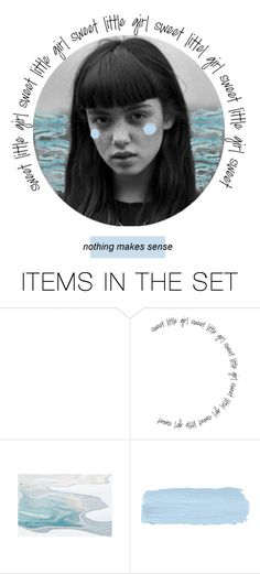 """B L U E"" by thealorena ❤ liked on Polyvore featuring art"