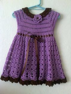 Vestido A Crochet Mmu en Mercado Libre México Crochet Dress Girl, Crochet Baby Dress Pattern, Baby Dress Patterns, Baby Girl Crochet, Crochet For Kids, Crochet Clothes, Moda Crochet, Knit Crochet, Toddler Girl Dresses