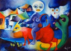 """Roberto Chichorro - """"Sem título"""" [moç] (1972) Africa Art, Gustav Klimt, Abstract Shapes, Art Inspo, Drawings, Illustration, Portugal, Fantasy, Pop"""