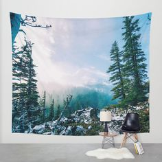 Overlook the Wilderness Wall Tapestry by StayWild   Society6