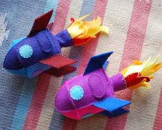 Felt rockets beautifully done!