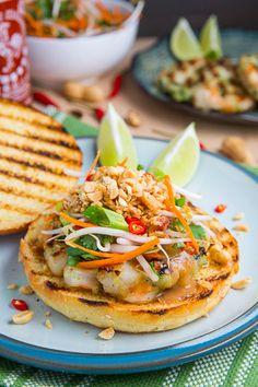 Pad Thai Shrimp Burgers