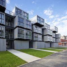Cité A Docks Student Housing: 100 Student Dorm Rooms Made From Shipping Containers.