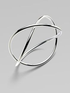 Georg Jensen - Alliance Sterling Silver Crossed Bangle Bracelet