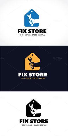 Fix Store Logo ~ Logo Templates on Creative Market