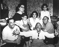 Machito, Beny More, Mario Bauza & family. Legendary Cuban Musicians