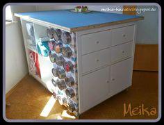 Meika - kreativ: Selbst gebauter Zuschneidetisch endlich fertig :) - DIY - Ikea Hack <3