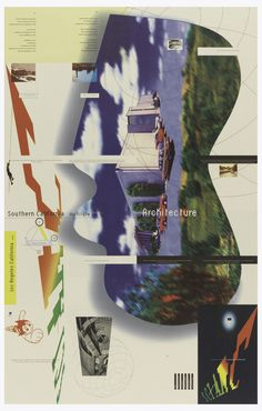 April Greiman, Promotional poster for Southern California Institute of Architecture, Los Angeles for undergraduate degree program, 1990s