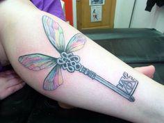 Harry potter flying key tattoo! So beautiful