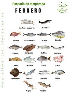 Pescado de temporada en febrero