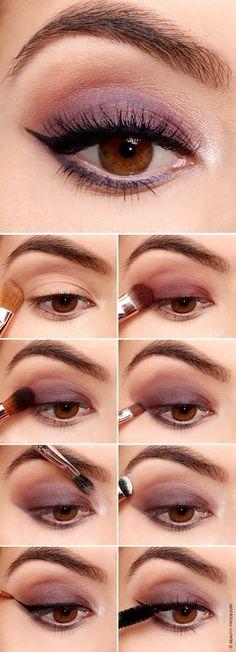 Макияж для карих глаз: фото-уроки пошагово